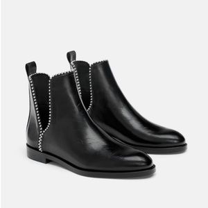 Zara booties with cutout stud details